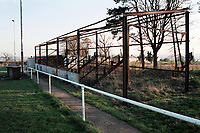 The remains of the stand at Clandown FC Football Ground, Thynne Field, Clandown, Somerset, pictured on 27th March 1997