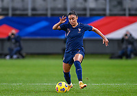 French Sakina Karchaoui (7) pictured in action during the Womens International Friendly game between France and Switzerland at Stade Saint-Symphorien in Longeville-lès-Metz, France.