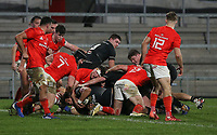 12 December 2020; Cormac Izuchukwu scores Ulster's penning try during the A series inter-pros series 20-21 between Ulster A and Munster A at Kingspan Stadium, Ravenhill Park, Belfast, Northern Ireland. Photo by John Dickson/Dicksondigital