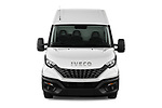 Car photography straight front view of a 2021 Iveco Daily 12m3-L3H2 4 Door Cargo Van Front View