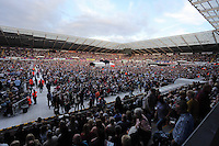 Pictured: Interior view of the crowd inside the stadium Saturday 18 June 2016<br /> Re: Lionel Richie, All The Hits concert at the Liberty Stadium, Swansea, Wales, UK
