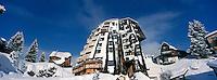 """Europe/France/Rhône-Alpes/74/Haute-Savoie/Avoriaz: l'hôtel de Christophe Leroy """"les Dromonts"""""""