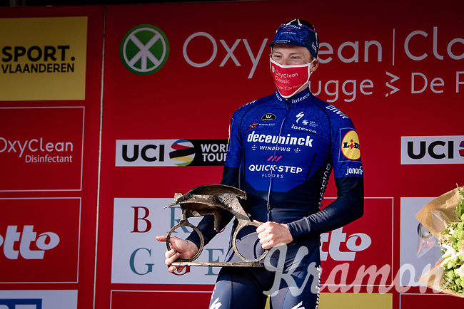 Sam Bennett (IRA/Deceuninck - Quick Step) wins the 45th Oxyclean Classic Brugge-De Panne 2021 (ME/1.UWT)<br /> <br /> 1 day race from Bruges to De Panne (204km)<br /> <br /> ©kramon