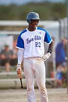 Jordan Walker (23) during the WWBA World Championship at the Roger Dean Complex on October 13, 2019 in Jupiter, Florida.  Jordan Walker is a third baseman from Stone Mountain, Georgia who attends Decatur High School and is committed to Duke.  (Mike Janes/Four Seam Images)