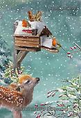 Marcello, CHRISTMAS SYMBOLS, WEIHNACHTEN SYMBOLE, NAVIDAD SÍMBOLOS,birdhouse,deer,red robin,mail box, paintings+++++,ITMCXM1990,#XX#