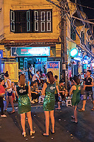 At night at the hanoi Old Quarters. Hanoi, the capital of Vietnam, is known for its centuries-old architecture and a rich culture with Southeast Asian, Chinese and French influences. At its heart is the chaotic Old Quarter, where the narrow streets are roughly arranged by trade. There are many little temples, including Bach Ma, honouring a legendary horse, plus Đồng Xuân Market, selling household goods and street food.