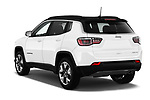 Car pictures of rear three quarter view of a 2018 Jeep Compass Limited 5 Door SUV angular rear