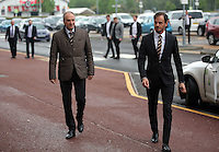 Pictured L-R: Manager Francesco Guidolin and Gabriele Ambrosetti arrive Wednesday 11 May 2016<br /> Re: Awards Dinner 2016, at the Liberty Stadium, south Wales, UK.