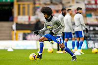7th February 2021; Molineux Stadium, Wolverhampton, West Midlands, England; English Premier League Football, Wolverhampton Wanderers versus Leicester City; Hamza Choudhury of Leicester City warms-up prior to the match