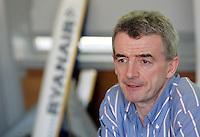 L'amministratore delegato di Ryanair Michael O'Leary durante una conferenza stampa a Roma, 17 febbraio 2009..Ryanair CEO Michael O'Leary speaks during a press conference in Rome, 17 february 2009..UPDATE IMAGES PRESS/Riccardo De Luca