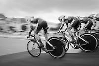 Team Wanty-Groupe Gobert on the TTT start podium<br /> <br /> 12th Eneco Tour 2016 (UCI World Tour)<br /> stage 5 (TTT) Sittard-Sittard (20.9km) / The Netherlands