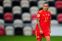 Natasha Harding of Wales Women's during the UEFA Women's EURO 2022 Qualifier match between Wales Women and Faroe Islands Women at Rodney Parade in Newport, Wales, UK. Thursday 22 October 2020