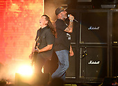 WEST PALM BEACH, FL - AUGUST 05: Mike Mushok and Aaron Lewis of Staind performs at The iTHINK Financial Amphitheatre on August 5, 2021 in West Palm Beach Florida. Credit Larry Marano © 2021