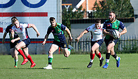 Saturday 26th September 2020 | Malone vs Ballynahinch<br /> <br /> Ross Adair races clear for Ballynahinch during the Ulster Senior League fixture between Malone and Ballynahinch at Gibson Park, Belfast, Northern Ireland. Photo by John Dickson / Dicksondigital