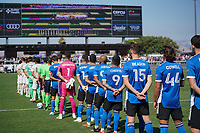 SAN JOSE, CA - AUGUST 8: San Jose Earthquakes before a game between Los Angeles FC and San Jose Earthquakes at PayPal Park on August 8, 2021 in San Jose, California.