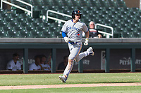 Surprise Saguaros left fielder Cavan Biggio (26), of the Toronto Blue Jays organization, runs home during an Arizona Fall League game against the Salt River Rafters at Salt River Fields at Talking Stick on October 23, 2018 in Scottsdale, Arizona. Salt River defeated Surprise 7-5 . (Zachary Lucy/Four Seam Images)