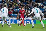 Real Madrid Nacho Fernandez and Jesus Vallejo and CD Numancia Nacho Sanchez  during King's Cup match between Real Madrid and CD Numancia at Santiago Bernabeu Stadium in Madrid, Spain. January 10, 2018. (ALTERPHOTOS/Borja B.Hojas)
