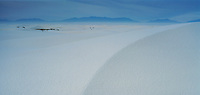Sand Dunes with frost,White Sands National Monument, New Mexico, USA
