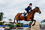 October 17, 2021: Zoe Crawford (USA), aboard K.E.C. Zara, competes during the Stadium Jumping Final at the 5* level during the Maryland Five-Star at the Fair Hill Special Event Zone in Fair Hill, Maryland on October 17, 2021. Jon Durr/Eclipse Sportswire/CSM