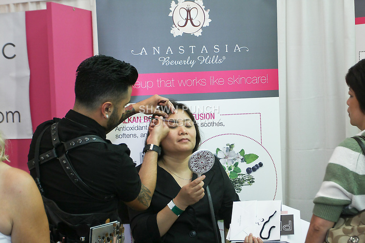 Anastasia Beverly Hills, makeup artist, Styles woman at the Makeup Show NYC, in the Metropolitan Pavilion, May 15 2011.