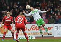 20151213 - KOELN , GERMANY : Wolfsburg 's Vanessa Bernauer (r) pictured during the female soccer match between 1.FC Koln and 1. VFL Wolfsburg , on the 11th day of the German Bundesliga season 2015-2016 in sudstadion in Koln. Sunday 13 December 2015 . PHOTO DAVID CATRY