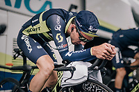 Simon Yates (GBR/Orica-Scott) warming up<br /> <br /> 104th Tour de France 2017<br /> Stage 1 (ITT) - Düsseldorf › Düsseldorf (14km)
