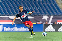 FOXBOROUGH, MA - SEPTEMBER 1: Colin Verfurth #35 of New England Revolution II passes the ball during a game between FC Tucson and New England Revolution II at Gillette Stadium on September 1, 2021 in Foxborough, Massachusetts.