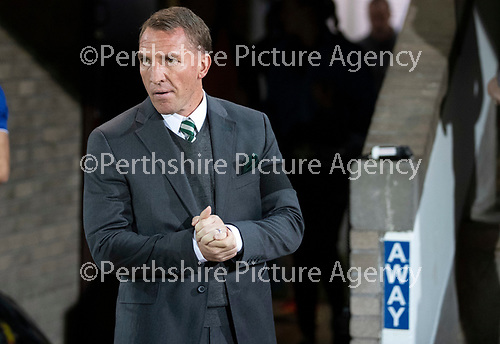 St Johnstone v Celtic…26.09.18…   McDiarmid Park     BetFred Cup Quarter Final<br />Celtic manager Brendan Rodgers<br />Picture by Graeme Hart. <br />Copyright Perthshire Picture Agency<br />Tel: 01738 623350  Mobile: 07990 594431