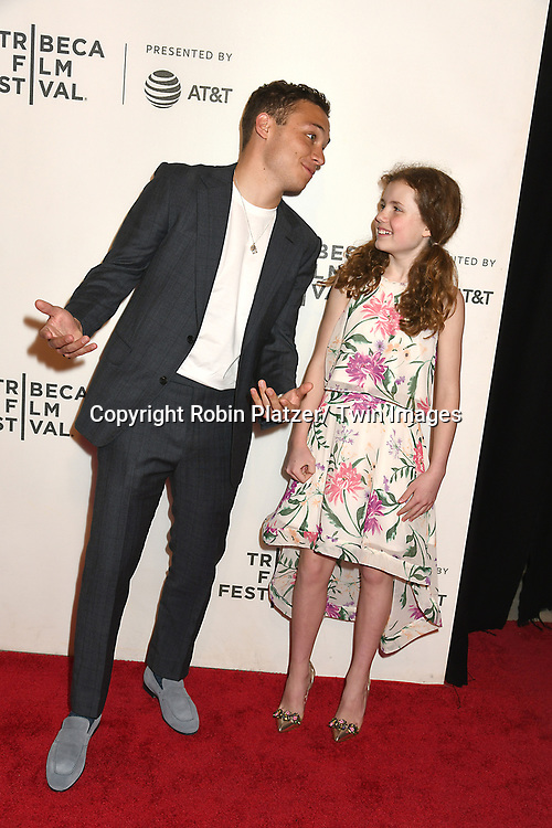 """Finn Cole and actor Darby Camp attend the  """"Dreamland""""  Screening at Tribeca Film Festival on April 28, 2019 at The Stella Artois Theatre at BMCC in New York, New York, USA.<br /> <br /> photo by Robin Platzer/Twin Images<br />  <br /> phone number 212-935-0770"""