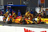 Verizon IndyCar Series<br /> Iowa Corn 300<br /> Iowa Speedway, Newton, IA USA<br /> Sunday 9 July 2017<br /> Ryan Hunter-Reay, Andretti Autosport Honda makes a pit stop.<br /> World Copyright: F. Peirce Williams<br /> LAT Images