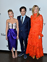 "LOS ANGELES, USA. November 06, 2019: Scarlett Johansson, Noah Baumbach & Laura Dern at the premiere for ""Marriage Story"" at the DGA Theatre.<br /> Picture: Paul Smith/Featureflash"