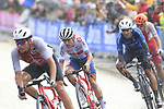 Thomas Pidcock (GBR) in the lead group in wet conditions on the Harrogate circuit during the Men U23 Road Race of the UCI World Championships 2019 running 186.9km from Doncaster to Harrogate, England. 27th September 2019.<br /> Picture: Eoin Clarke | Cyclefile<br /> <br /> All photos usage must carry mandatory copyright credit (© Cyclefile | Eoin Clarke)
