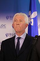 FILE - Gilles Duceppe et Mario Beaulieu, conference de presse du Bloc Quebecois<br /> , le 10 juin 2015.<br /> <br /> Photo : <br /> Pierre Roussel - Agence Quebec Presse