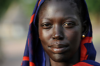 SOUTH-SUDAN Rumbek, portraiture of Dinka woman / SUED-SUDAN Rumbek, Dinka Frau