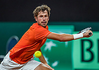 The Hague, The Netherlands, September 15, 2017,  Sportcampus , Davis Cup Netherlands - Chech Republic, Seccond Rubber: Robin Haase (NED)<br /> Photo: Tennisimages/Henk Koster
