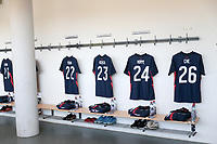 ST. GALLEN, SWITZERLAND - MAY 30: USMNT locker room before a game between Switzerland and USMNT at Kybunpark on May 30, 2021 in St. Gallen, Switzerland.