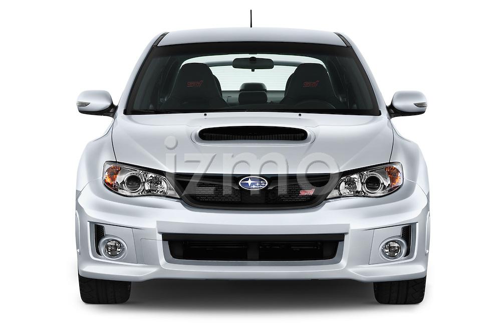 Straight front view of a 2013 Subaru WRX STI Sedan2013 Subaru WRX STI Sedan