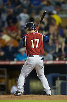 Tyler Austin (17) of the Scranton/Wilkes-Barre RailRiders at bat against the Durham Bulls at Durham Bulls Athletic Park on May 15, 2015 in Durham, North Carolina.  The RailRiders defeated the Bulls 8-4 in 11 innings.  (Brian Westerholt/Four Seam Images)
