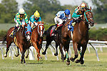 July 12, 2014: Hardest Core, Eriluis Vaz up, wins the Cape Henlopen Stakes at Delaware Park in Stanton Delaware. Trainer is Edward Graham; owner is Leonard Rubacha. Joan Fairman Kanes/ESW/CSM