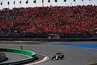 5th September 2021: Circuit Zandvoort, Zandvoort, Netherlands;  99 GIOVINAZZI Antonio ita, Alfa Romeo Racing ORLEN C41 during the Formula 1 Heineken Dutch Grand Prix showing the massed Dutch fans supporting Verstappen