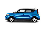 Car Driver side profile view of a2015 KIA Soul EV Base 5 Door Wagon Side View