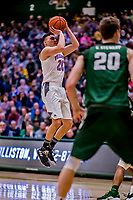 19 January 2019: University of Vermont Catamount Guard Ernie Duncan, a Redshirt Senior from Evansville, IN, in first half Men's Basketball action against the Binghamton University Bearcats at Patrick Gymnasium in Burlington, Vermont. Duncan notched his third 20-point outing of the season with a game-high 20 points as the Catamounts defeated the Bearcats 78-50 to remain unbeaten in conference play to date this season. Mandatory Credit: Ed Wolfstein Photo *** RAW (NEF) Image File Available ***