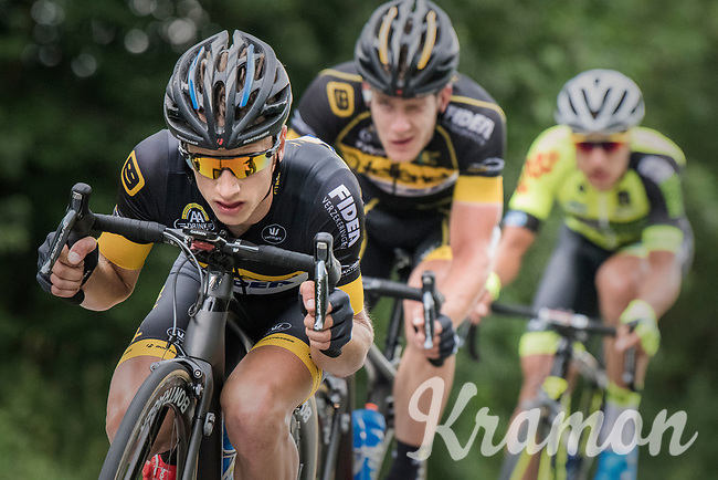 European & Belgian CX champion Quinten Hermans (BEL/Telenet Fidea Lions) spent a big part of the day in the breakaway group(s) he originally initiated<br /> <br /> Ster ZLM Tour (2.1)<br /> Stage 4: Hotel Verviers > La Gileppe (Jalhay)(190km)