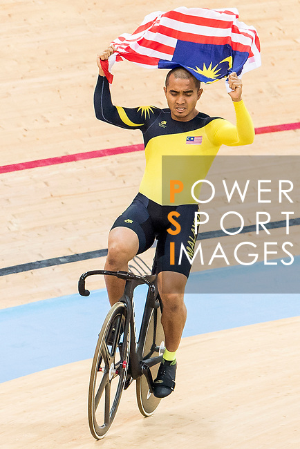 Mohd Azizulhasni Awang of the Malaysia team celebrates winning the Men's Keirin Final as part of the 2017 UCI Track Cycling World Championships on 13 April 2017, in Hong Kong Velodrome, Hong Kong, China. Photo by Chris Wong / Power Sport Images