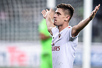 Krzysztof Piatek of AC Milan celebrates after scoring the victory goal <br /> Verona 15/09/2019 Stadio Bentegodi <br /> Football Serie A 2019/2020 <br /> Hellas Verona - AC Milan <br /> Photo Image Sport / Insidefoto