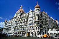 Decorative exterior of the Taj Mahal Palace and Tower, Mumbai, India, 1985.