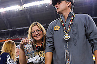 January 01, 2014:<br /> <br /> UCF Knights fans celebrate at the conclusion of Tostitos Fiesta Bowl at University of Phoenix Stadium in Scottsdale, AZ. UCF defeat Baylor 52-42 to claim it's first ever BCS Bowl trophy.