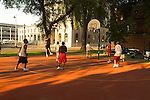 Basketball in the North Park Blocks in Portland.