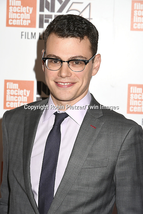 """Director of """"Hamilton's America Alex Horwitz attends the """"Manchester by the Sea"""" Screening at the New York Film Festival on October 1, 2016 at Alice Tylly Hall in Lincoln Center in New York, New York, USA.<br /> <br /> photo by Robin Platzer/Twin Images<br />  <br /> phone number 212-935-0770"""