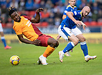 St Johnstone v Galatasaray…12.08.21  McDiarmid Park Europa League Qualifier<br />Chris Kane and Christian Luyindama<br />Picture by Graeme Hart.<br />Copyright Perthshire Picture Agency<br />Tel: 01738 623350  Mobile: 07990 594431